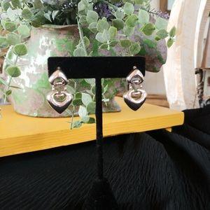 Joseph Esposito Sterling Silver Heart Earrings